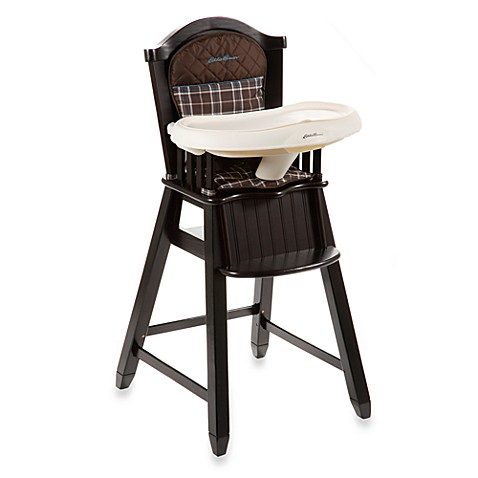 Eddie Bauer® Charter Atlantic Blue Wood High Chair ...