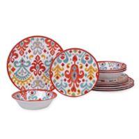 Certified International Bali 12-Piece Melamine Dinnerware Set