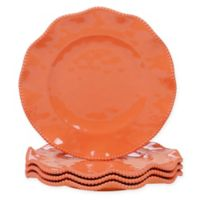 Certified International Perlette Dinner Plates in Coral (Set of 4)