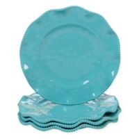 Certified International Perlette Dinner Plates in Teal (Set of 4)