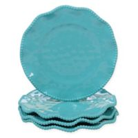 Certified International Perlette Salad Plates in Teal (Set of 4)