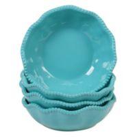 Certified International Perlette Bowls in Teal (Set of 4)