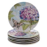 Certified International Hydrangea Garden Salad Plates (Set of 6)