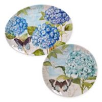 Certified International Hydrangea Garden 2-Piece Platter Set