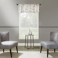 Magnolia Embroidered Window Valance in Coral