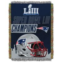 NFL New England Patriots Super Bowl LIII Champions Woven Tapestry Throw