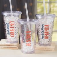 Bridesmaid On The Go Personalized Acrylic Insulated Tumbler