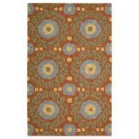 Nourison Siam Rug 3-Foot 6-Inch x 5-Foot 6-Inch Area Rug in Rust