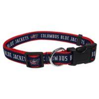 NHL Columbus Blue Jackets Medium Dog Collar
