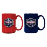 NFL New England Patriots Super Bowl LIII Champions 15 oz. Ceramic Mugs (Set of 2)