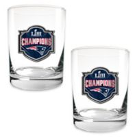 NFL New England Patriots Super Bowl LIII 15 oz. Rocks Glasses (Set of 2)