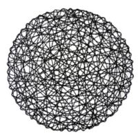 Design Imports Woven Round Placemats in Black (Set of 6)