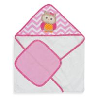 Neat Solutions® Owl Hooded Towel & Washcloth Set