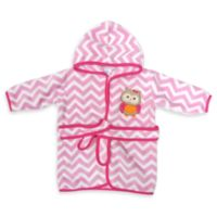 Neat Solutions® Hooded Fleece Bathrobe in Pink Owl