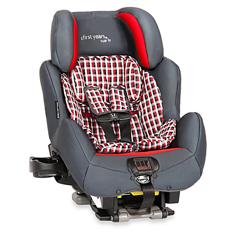 convertible car seats the first years true fit si convertible c680 in plaid grey from buy buy. Black Bedroom Furniture Sets. Home Design Ideas