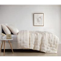 Charisma Silky Satin Queen Coverlet Set in Ivory