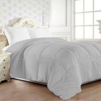 Down Alternative Twin Comforter in Grey
