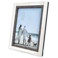 Prinz Shoreline 8-Inch x 10-Inch Picture Frame in Grey/White