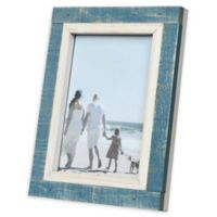 Prinz Shoreline 5-Inch x 7-Inch Picture Frame in Blue/White