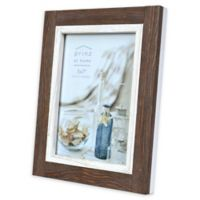 Prinz Shoreline 5-Inch x 7-Inch Picture Frame in Brown/White