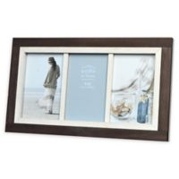 Prinz Shoreline 3-Photo 4-Inch x 6-Inch Picture Frame in White/Brown