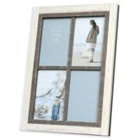 Prinz Shoreline 4-Photo 4-Inch x 6-Inch Picture Frame in White/Grey
