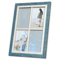 Prinz Shoreline 4-Photo 4-Inch x 6-Inch Picture Frame in White/Blue