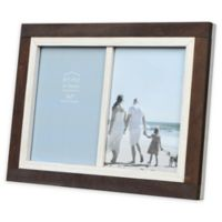 Prinz Shoreline 2-Photo 5-Inch x 7-Inch Picture Frame in White/Brown