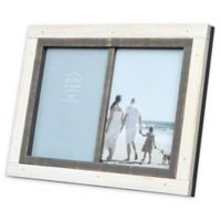 Prinz Shoreline 2-Photo 5-Inch x 7-Inch Picture Frame in White/Grey