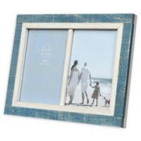 Prinz Shoreline 2-Photo 5-Inch x 7-Inch Picture Frame in White/Blue