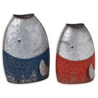 Gerson Galvanized Metal Fish Containers (Set of 2)