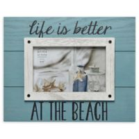 Prinz Life Is Better At The Beach 4-Inch x 6-Inch Picture Frame in Green