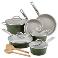 Ayesha Curry™ Porcelain Enamel Nonstick 12-Piece Cookware Set in Basil