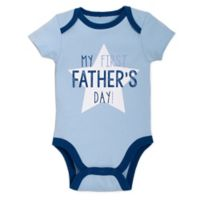 "babyGEAR™ Size 3M ""My First Father's Day"" Star Bodysuit in Blue"