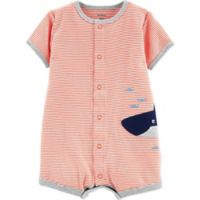 carter's® Size 12M Stripe Whale Romper in Red/White