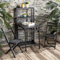 Safavieh Griffen 3-Piece Balcony Dining Cabinet Set in Ash Grey