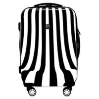 Ful® White Swirl 20-Inch Hardside Spinner Carry On Luggage in Black/White