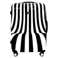 Ful® White Swirl 28-Inch Hardside Spinner Checked Luggage in Black/White