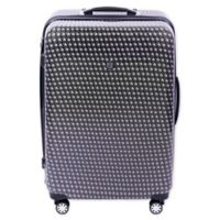 ful® Metal Chain 28-Inch Hardside Spinner Checked Luggage in Black
