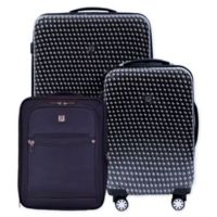 ful® Metal Chain 3-Piece Spinner Luggage Set in Black