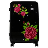 Ful® Printed Rose 25-Inch Hardside Spinner Checked Luggage in Black