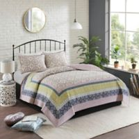 Madison Park Piper Reversible Full/Queen Coverlet Set in Dusty Purple