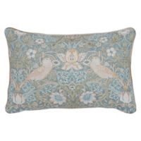 Morris & Co. Strawberry Thief Oblong Throw Pillow in Strawberry