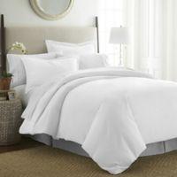 Pointehaven 525-Thread-Count Full/Queen Duvet Cover Set in White