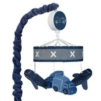 Lambs & Ivy® Metropolis Musical Mobile in Blue/White