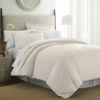Pointehaven 525-Thread-Count Full/Queen Duvet Cover Set in Ivory Pearl