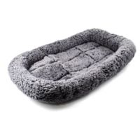 Plush Pet Bed in Grey