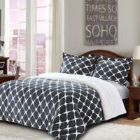 Bloomingdale Sherpa Down Alternative 3-Piece King Comforter Set in Grey