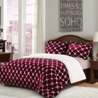 Bloomingdale Sherpa Down Alternative 2-Piece Twin Comforter Set in Burgundy