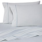 Wamsutta® 400 Thread Count Stripe Printed Queen Sheet Set in Sky Blue